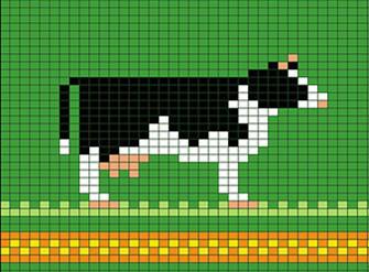 多款或可爱或酷帅的牛图案图解 2021牛年毛衣图案集