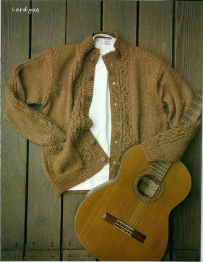 男士棒针羊毛开衫