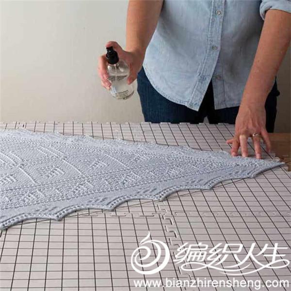 喷湿定型(spray blocking)