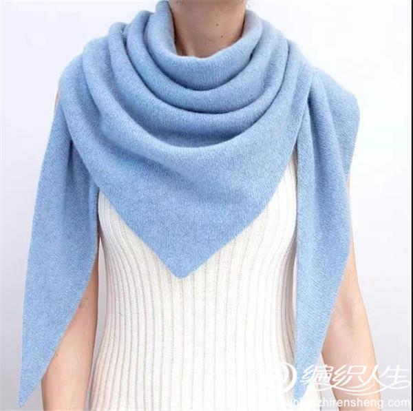 羊绒三角披肩