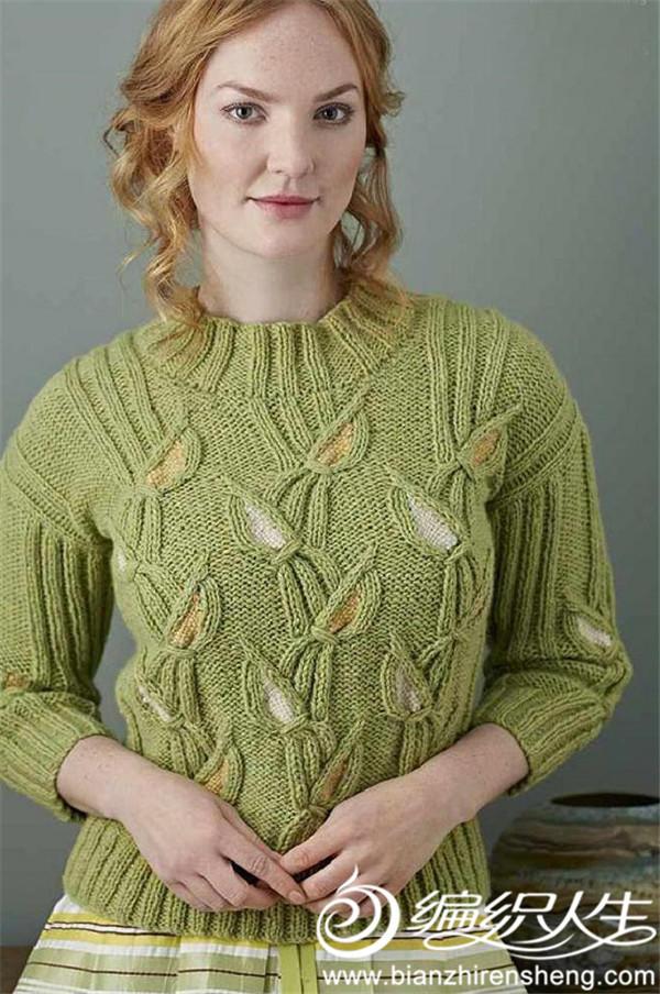 梭织绣毛衣
