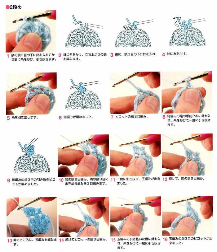 0-18个月宝宝钩针拼花马甲背心编织图解(含详细过程图示例)