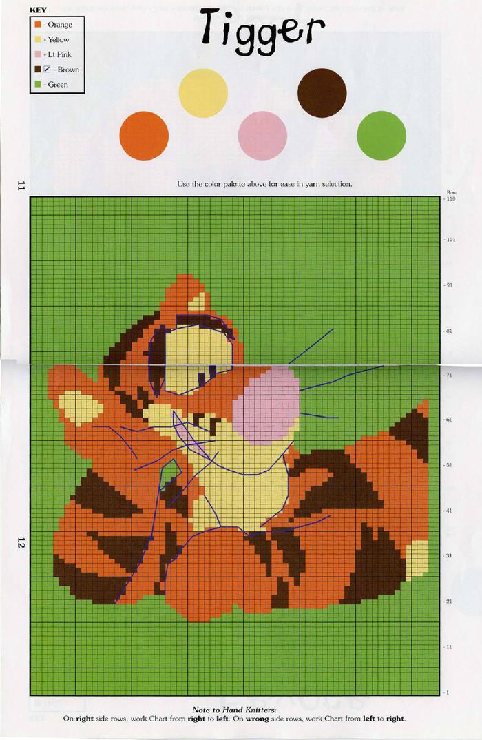 跳跳虎编织图案
