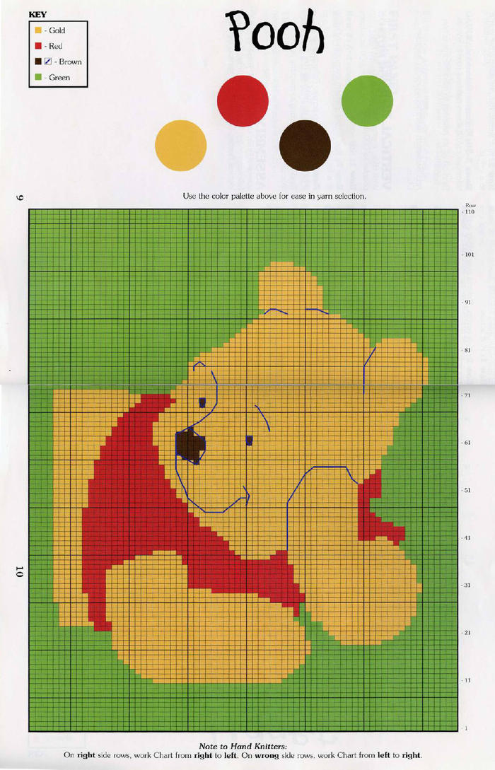 小熊维尼编织图案