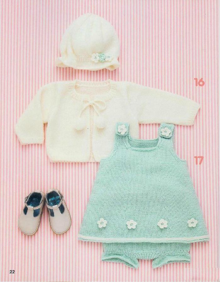 甜美可爱宝宝棒针毛衣4件套