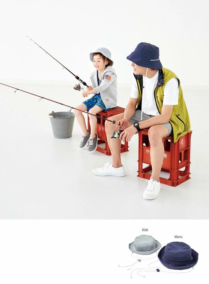 钩针亲子帽