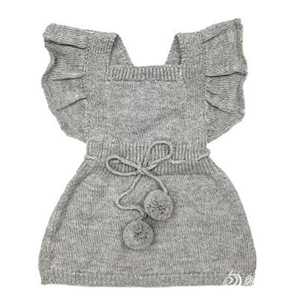 饰有荷叶边、pompom小绒球的背心裙