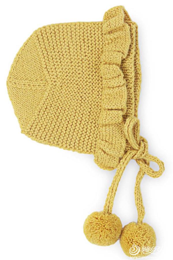 复古风各式荷叶边系带童帽