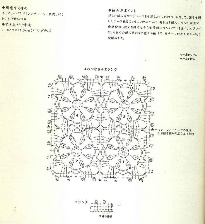单元花与花边的魅力拼接 3组钩针花样看拼接的递进