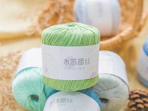 水苏蕾丝线 手工编织钩针棉线段染线