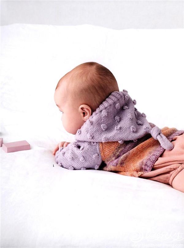 棒针宝宝连帽开衫