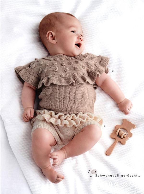 棒针宝宝木耳边套装