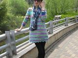 花神--绿粉系段染裙-----216