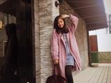 魅影~~~张金兰从上往下织菱形纹开襟外套   07