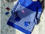 【转载】那年---男童海魂风羊绒条纹套衫------2014.50