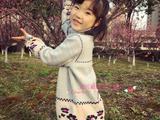 【依可爱】女童绣花两翻领裙式毛衣-视频教程