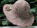 【转载】引用 《作品秀》日本芭贝和纸钩织草帽[松编帽]