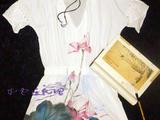 紫色连衣裙*手工~~~~雪纺手绘衣