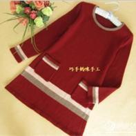 梧桐-铁锈红连衣裙