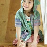 猫大衣 儿童带帽美丽开衫