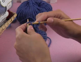 编织人生视频学堂第14集----单螺纹棒针收针