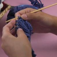 编织人生视频学堂第15集----双螺纹棒针收针