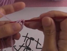 编织人生视频学堂第84集----短针圆形的织法