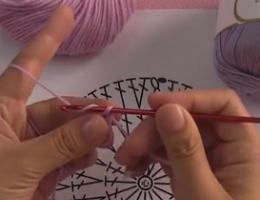 编织人生视频学堂第85集----长针圆形的织法