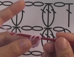 编织人生视频学堂第86集---3针长针并1针的枣形针
