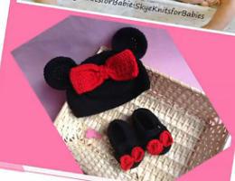 编织人生视频学堂-----超萌米妮鞋帽套装(2)米妮鞋子的编织方法
