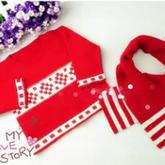 编织人生视频学堂-----中国红云宝宝提花套头毛衣