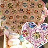 奔驰娱乐视频学堂------小熊拼花毯的编织方法