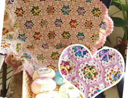 编织人生视频学堂------小熊拼花毯的编织方法