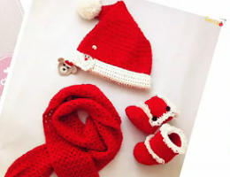 编织人生视频学堂-------圣诞套装之圣诞靴子的编织方法