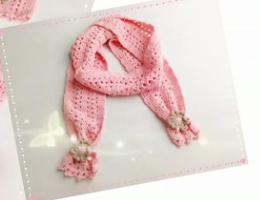 编织人生视频学堂----童心如梦之云棉花朵围巾