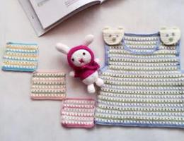 编织人生视频学堂---零基础学习编织宝宝婴儿小熊马甲(前片)
