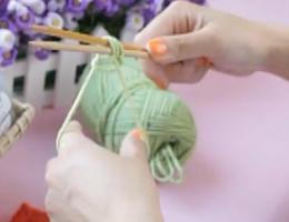 编织人生视频学堂第1集---手指挂线的起针方法