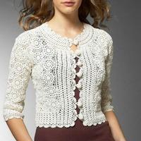 钩针编织女士毛衣款式欣赏