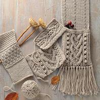 阿兰编织 手套围巾毛衣编织花样图
