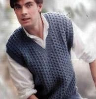 男士背心毛衣编织款式图解