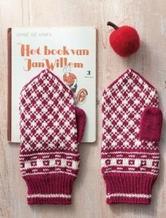 短针编织温暖的连指手套图解