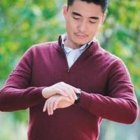 男士棒针半拉链长袖毛衣编织图解