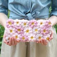 可钩成围巾手包毯子的花朵教程 附过程图和图解