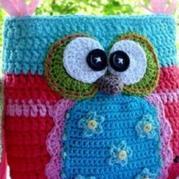 编织玩偶教程 猫头鹰包包