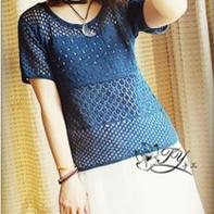 夏季女士百搭镂空棒针蕾丝罩衣