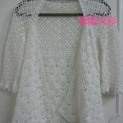 马仙衣钩针版 折纸式女士钩针开衫