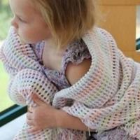 如何编织五彩的儿童毯子 编织图示