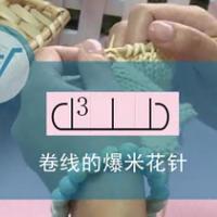 编织人生视频学堂第40集--卷线的爆米花针