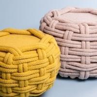 简洁时尚的手工编织羊毛家具系列