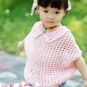 女童公主式镂空钩编蝙蝠衫 钩针编织教程